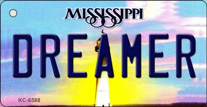 Dreamer Mississippi State License Plate Key Chain KC-6588
