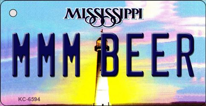 MMM Beer Mississippi State License Plate Key Chain KC-6594