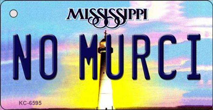 No Murci Mississippi State License Plate Key Chain KC-6595