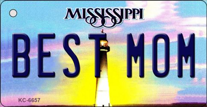 Best Mom Mississippi State License Plate Key Chain KC-6657