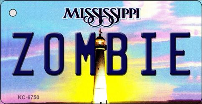 Zombie Mississippi State License Plate Key Chain KC-6750