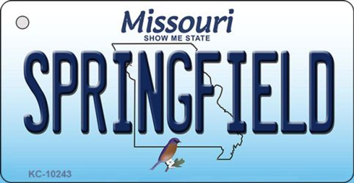 Springfield Missouri State License Plate Key Chain KC-10243