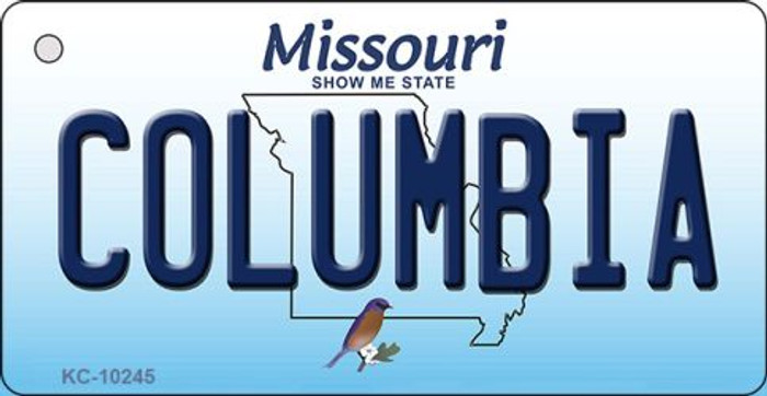 Columbia Missouri State License Plate Key Chain KC-10245