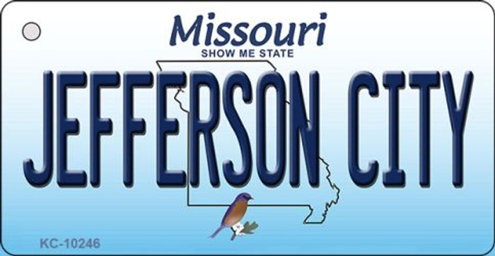 Jefferson City Missouri State License Plate Key Chain KC-10246