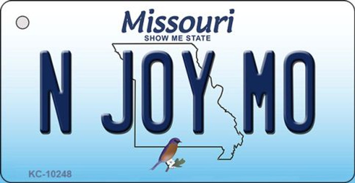 N Joy MO Missouri State License Plate Key Chain KC-10248