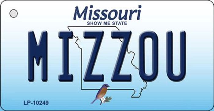 Mizzou Missouri State License Plate Key Chain KC-10249