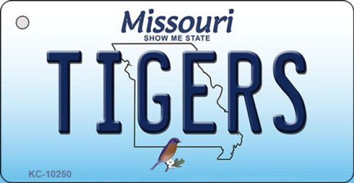 Tigers Missouri State License Plate Key Chain KC-10250
