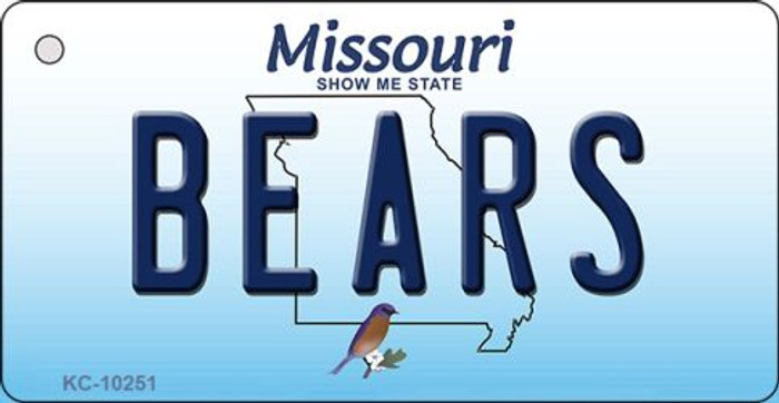 Bears Missouri State License Plate Key Chain KC-10251