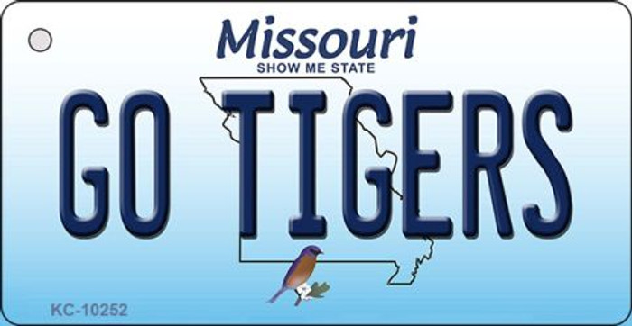 Go Tigers Missouri State License Plate Key Chain KC-10252