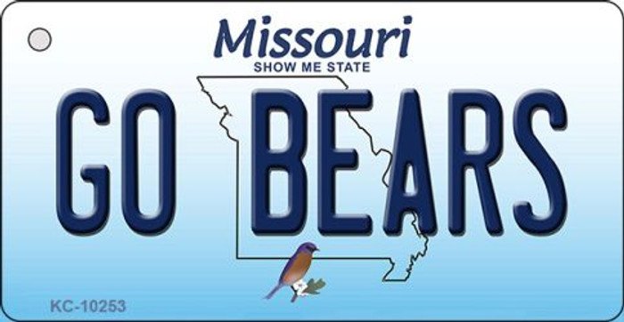 Go Bears Missouri State License Plate Key Chain KC-10253