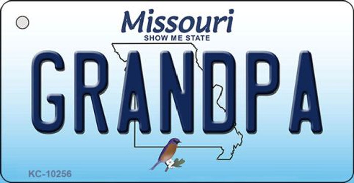 Grandpa Missouri State License Plate Key Chain KC-10256