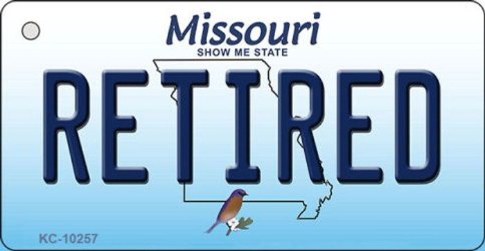 Retired Missouri State License Plate Key Chain KC-10257