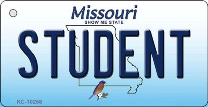 Student Missouri State License Plate Key Chain KC-10258