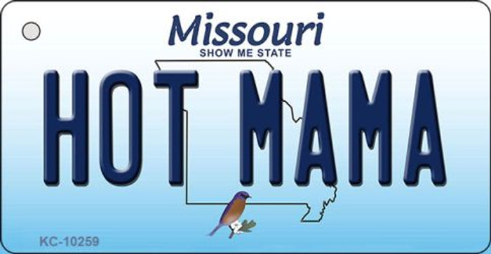 Hot Mama Missouri State License Plate Key Chain KC-10259