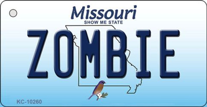 Zombie Missouri State License Plate Key Chain KC-10260
