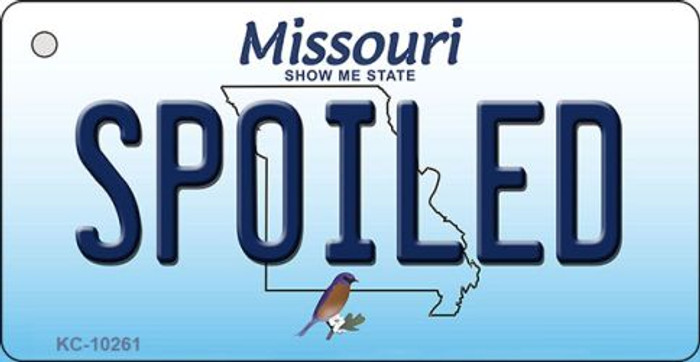 Spoiled Missouri State License Plate Key Chain KC-10261