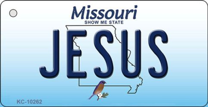 Jesus Missouri State License Plate Key Chain KC-10262