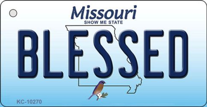 Blessed Missouri State License Plate Key Chain KC-10270