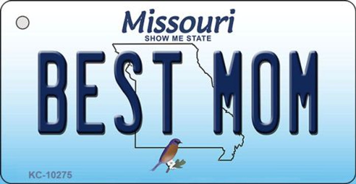 Best Mom Missouri State License Plate Key Chain KC-10275