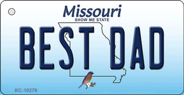 Best Dad Missouri State License Plate Key Chain KC-10276