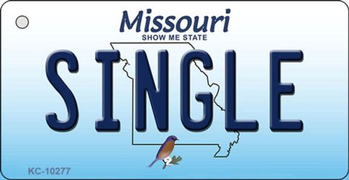 Single Missouri State License Plate Key Chain KC-10277