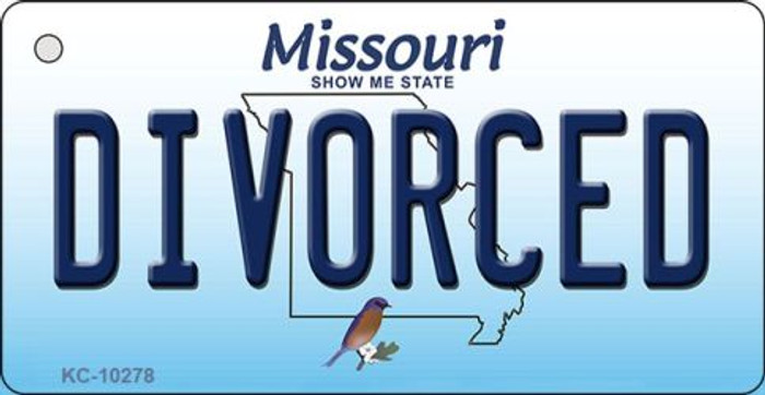 Divorced Missouri State License Plate Key Chain KC-10278