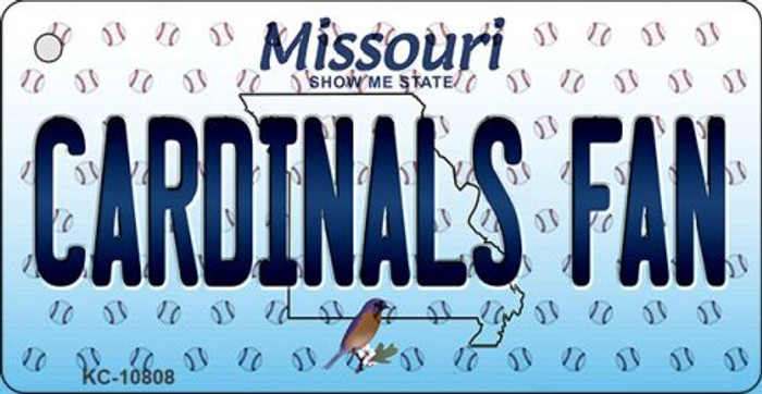 Cardinals Fan Missouri State License Plate Key Chain KC-10808