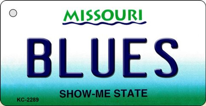 Blues Missouri State License Plate Key Chain KC-2289