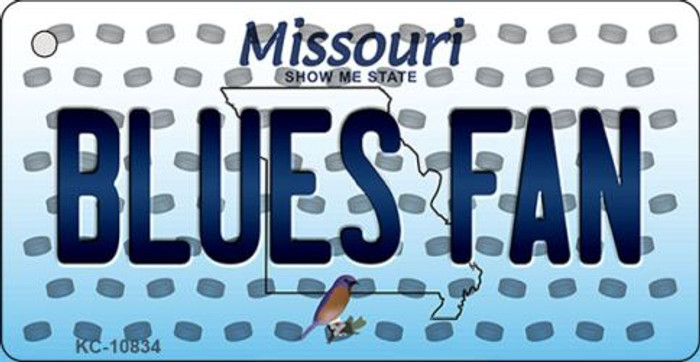 Blues Fan Missouri State License Plate Key Chain KC-10834