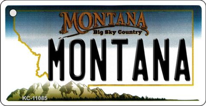 Montana State License Plate Novelty Key Chain KC-11085
