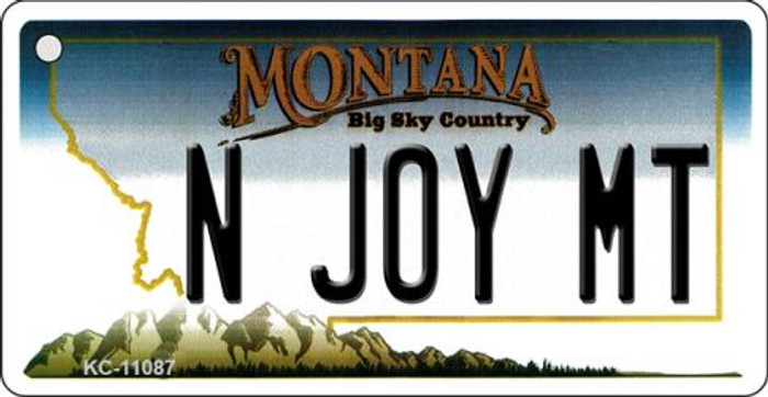 N Joy MT Montana State License Plate Novelty Key Chain KC-11087