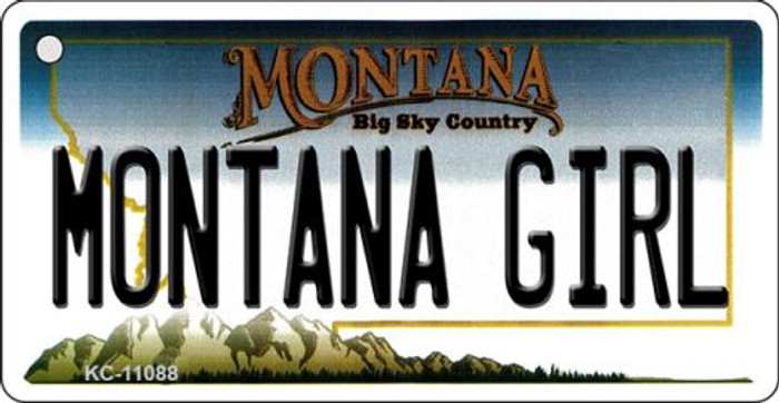 Montana Girl State License Plate Novelty Key Chain KC-11088