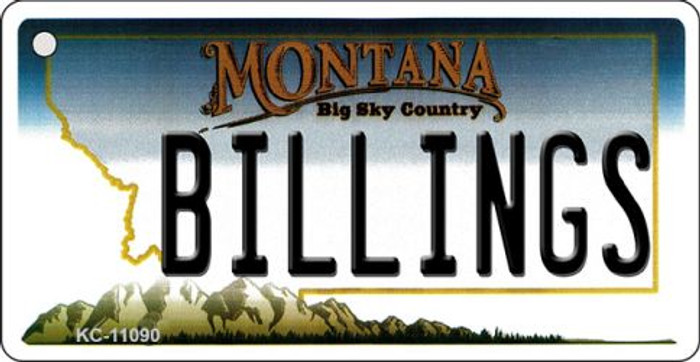 Billings Montana State License Plate Novelty Key Chain KC-11090