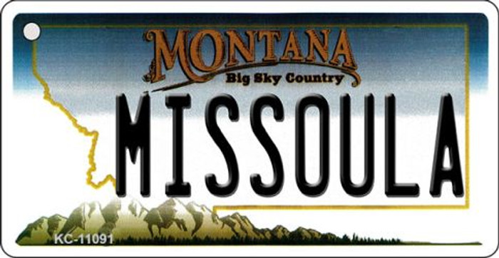 Missoula Montana State License Plate Novelty Key Chain KC-11091