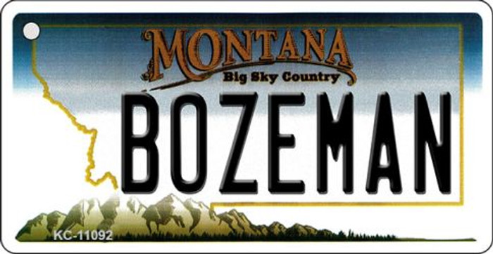 Bozeman Montana State License Plate Novelty Key Chain KC-11092