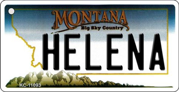 Helena Montana State License Plate Novelty Key Chain KC-11093