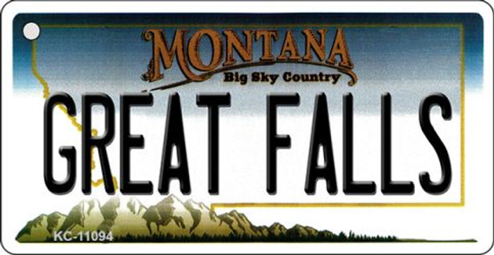 Great Falls Montana State License Plate Novelty Key Chain KC-11094