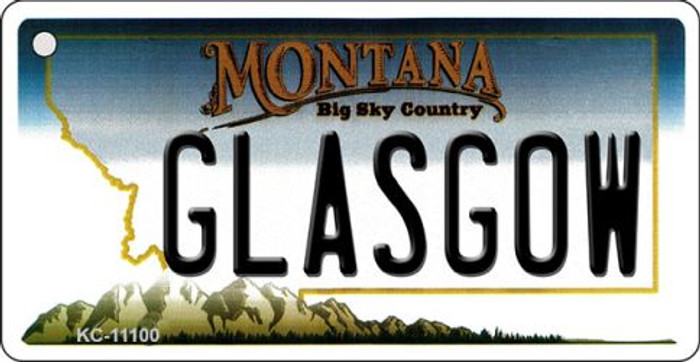 Glasgow Montana State License Plate Novelty Key Chain KC-11100