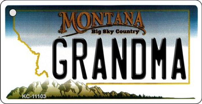 Grandma Montana State License Plate Novelty Key Chain KC-11103