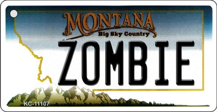 Zombie Montana State License Plate Novelty Key Chain KC-11107