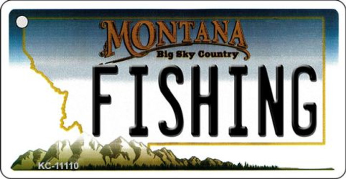 Fishing Montana State License Plate Novelty Key Chain KC-11110