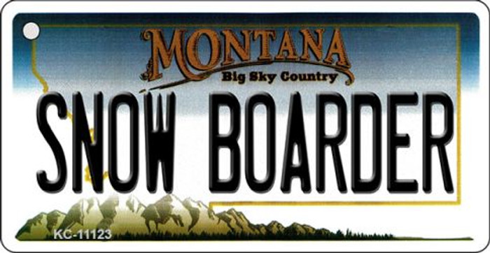Snow Boarder Montana State License Plate Novelty Key Chain KC-11123