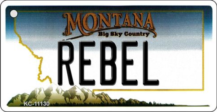 Rebel Montana State License Plate Novelty Key Chain KC-11130