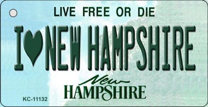 I Love New Hampshire State License Plate Key Chain KC-11132
