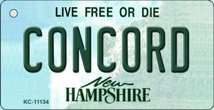 Concord New Hampshire State License Plate Key Chain KC-11134