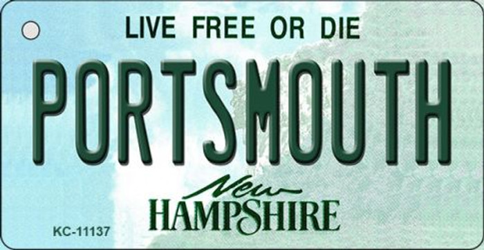 Portsmouth New Hampshire State License Plate Key Chain KC-11137