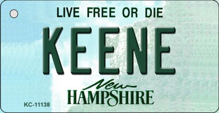 Keene New Hampshire State License Plate Key Chain KC-11138