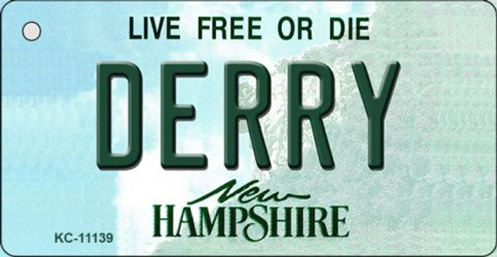 Derry New Hampshire State License Plate Key Chain KC-11139
