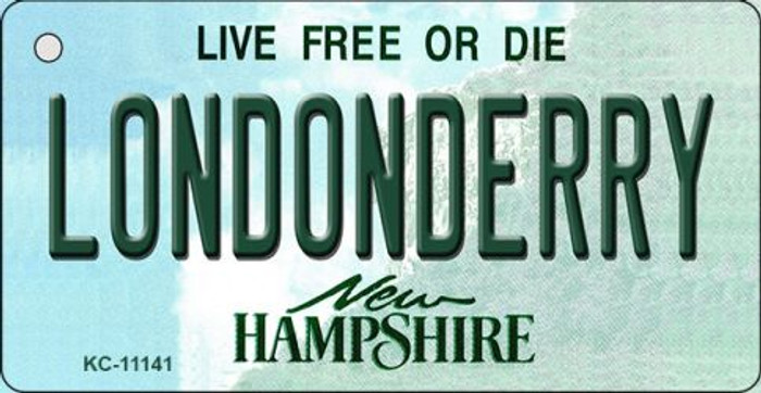 Londonderry New Hampshire State License Plate Key Chain KC-11141