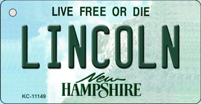 Lincoln New Hampshire State License Plate Key Chain KC-11149